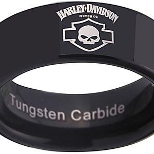 Harley Davidson Ring 8mm Tungsten Size 9.5